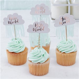 Hello world cupcake sticks