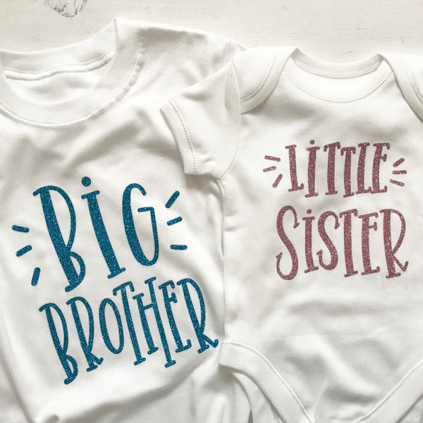Sibling vest and t-shirt
