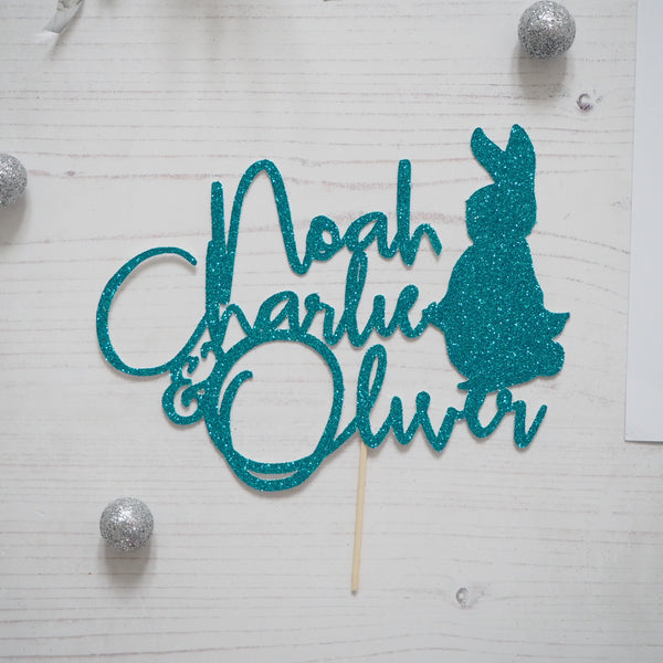 Peter Rabbit Glitter Cake Topper