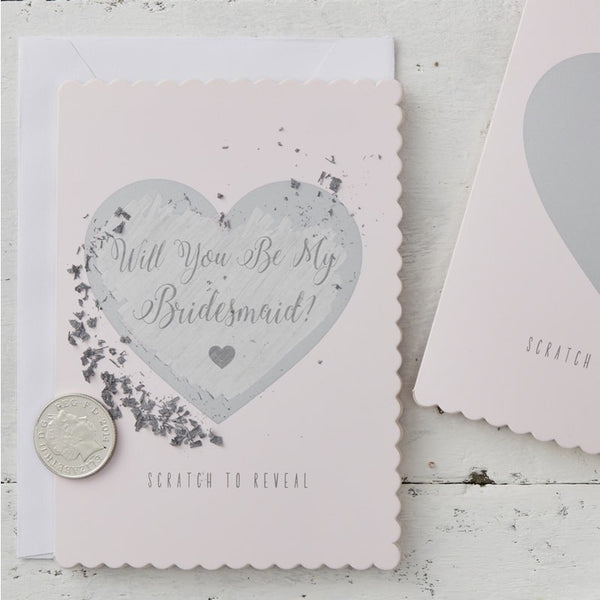 Will You Be My Bridesmaid Cards - Scratch & Reveal Pack of 5