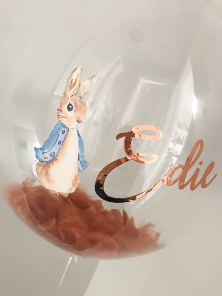 Personalised Peter Rabbit Feather Balloon
