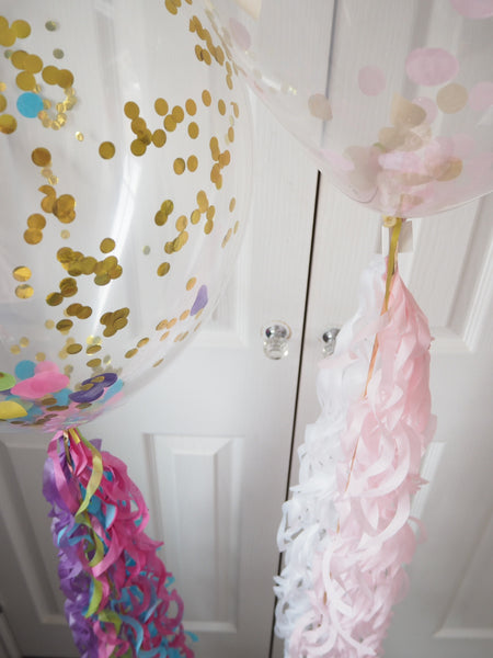 Confetti Balloons with ribbon tail
