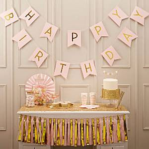 Pastel Perfection 'Happy Birthday' Bunting