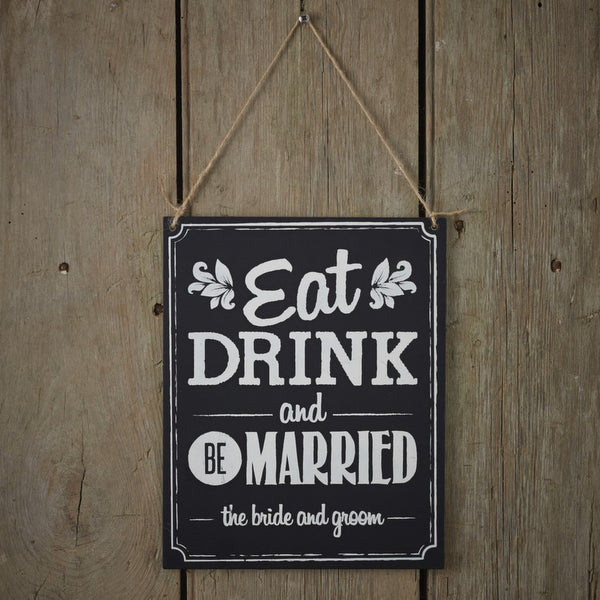 vintage chalkboard wedding sign