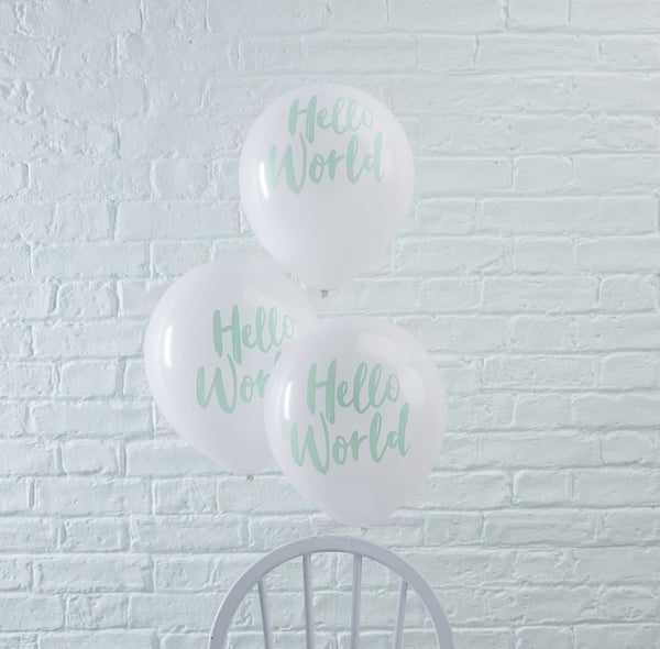 Hello world balloons