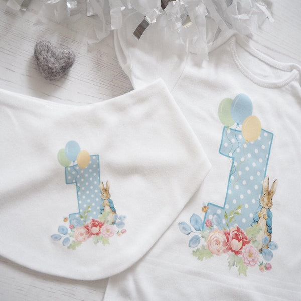 Peter Rabbit One Birthday Bodysuit, Peter Rabbit Party, First Birthday Vest, DIY iron on, iron on Birthday bodysuit, iron on birthday vest
