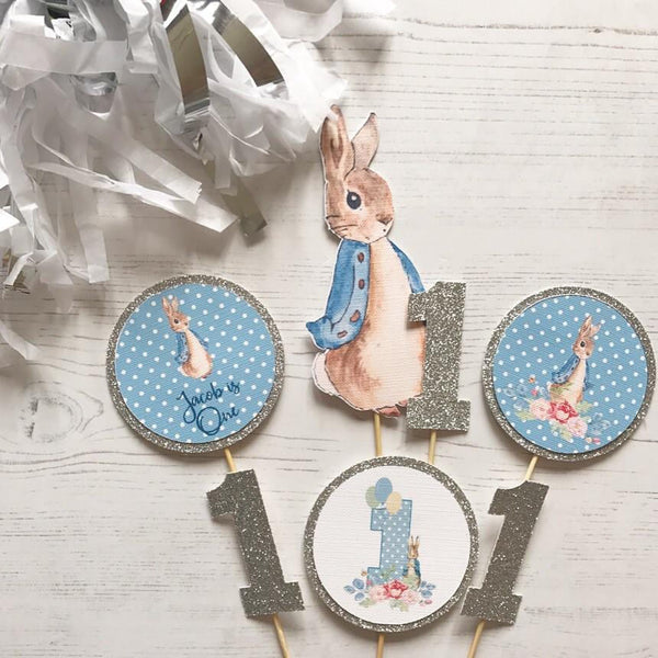 Peter Rabbit Party, Peter Rabbit Cake Topper, Birthday, Cupcake Toppers