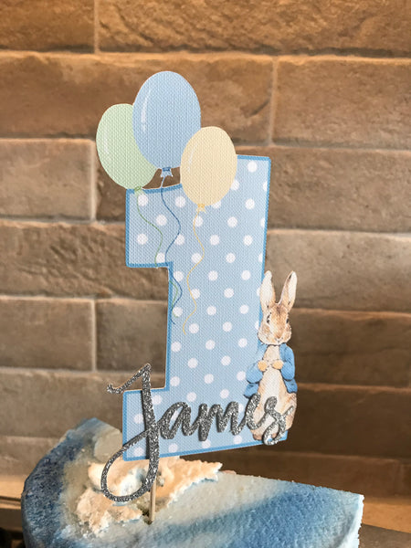 Peter Rabbit Party, Peter Rabbit Cake Topper, Birthday, Cupcake Toppers, Peter Rabbit, 1st birthday cake topper, cake topper
