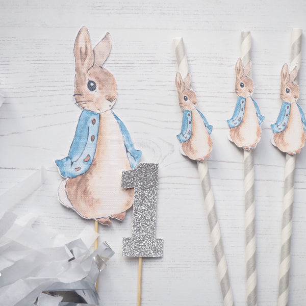 Peter Rabbit Straws pack of 10