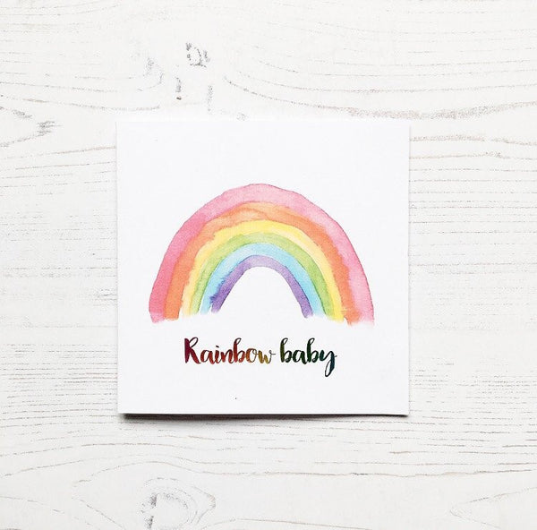 Rainbow Baby Sleepsuit/T Shirt & Card Gift Bundle