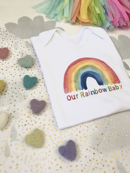 'Our Rainbow Baby' sleepsuits & t-shirts