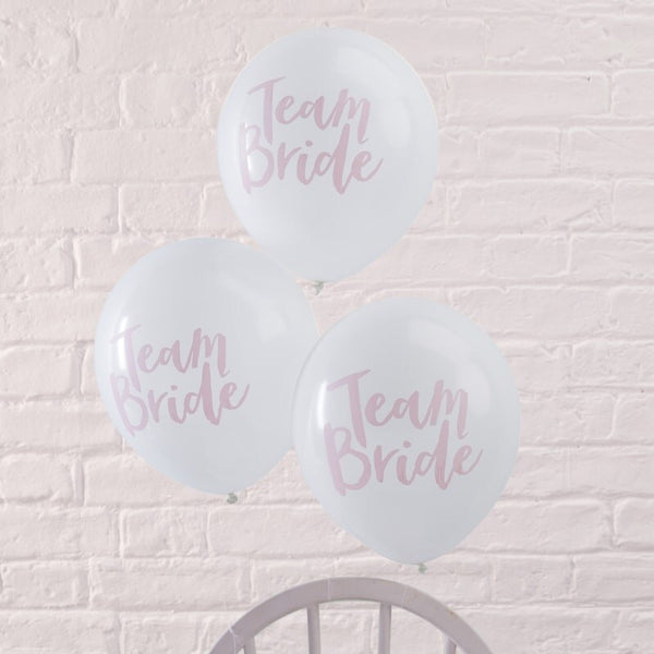 Team bride hen party balloons pack of 10