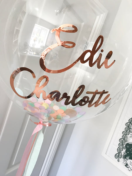 Personalised Confetti Bubble Balloon