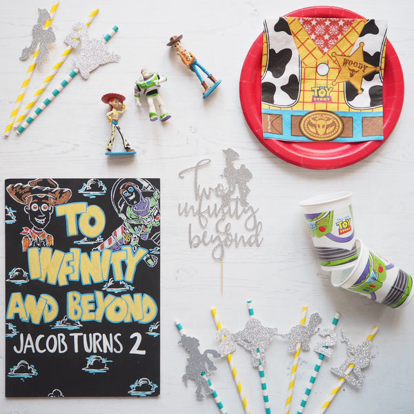 Toy Story & Number Straws pack of 10