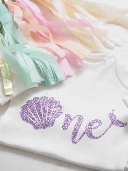 Mermaid Birthday Age Vest or T-Shirts