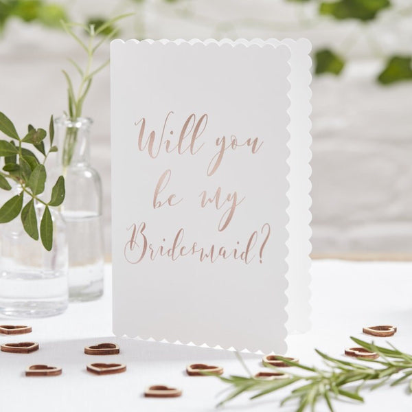 Will you be my bridesmaid cards pack of 5