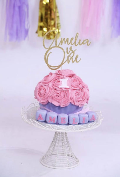 Personalised Glitter Cake Topper