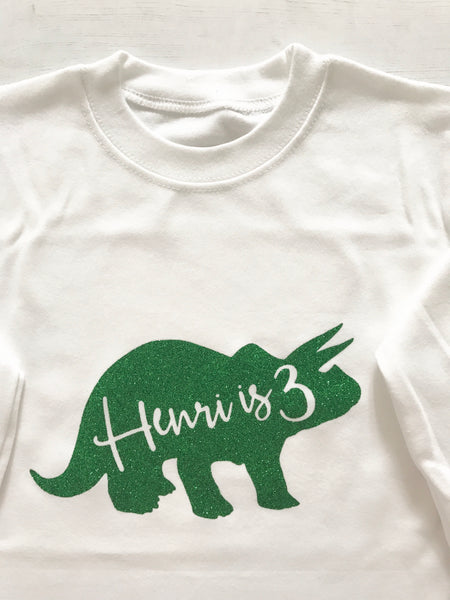 Personalised Dinosaur Vest or T-Shirts