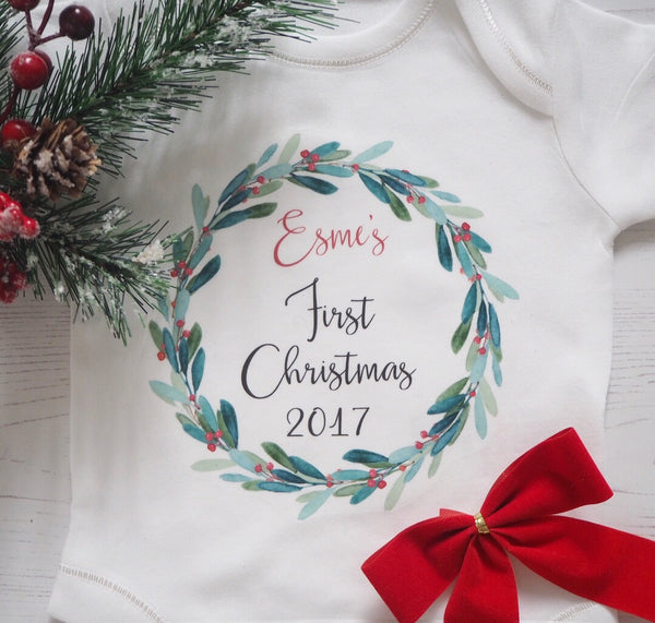 My First Christmas Personalised Vest