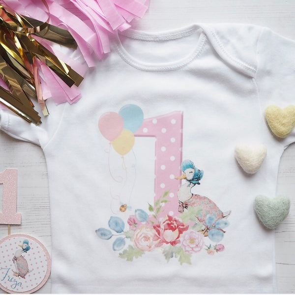 Jemima Puddle Duck Birthday Vest