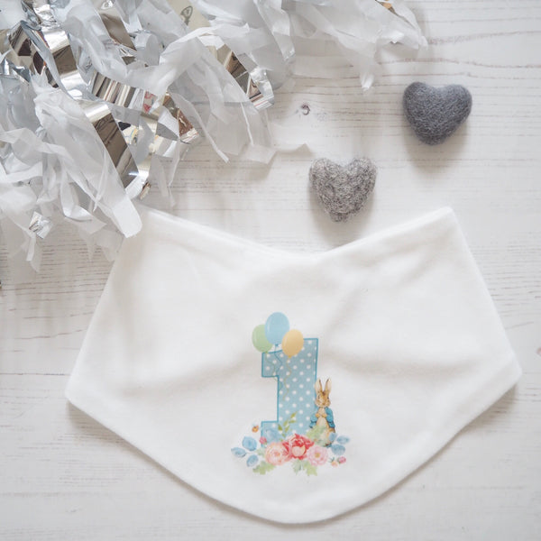 Peter Rabbit Birthday Bib