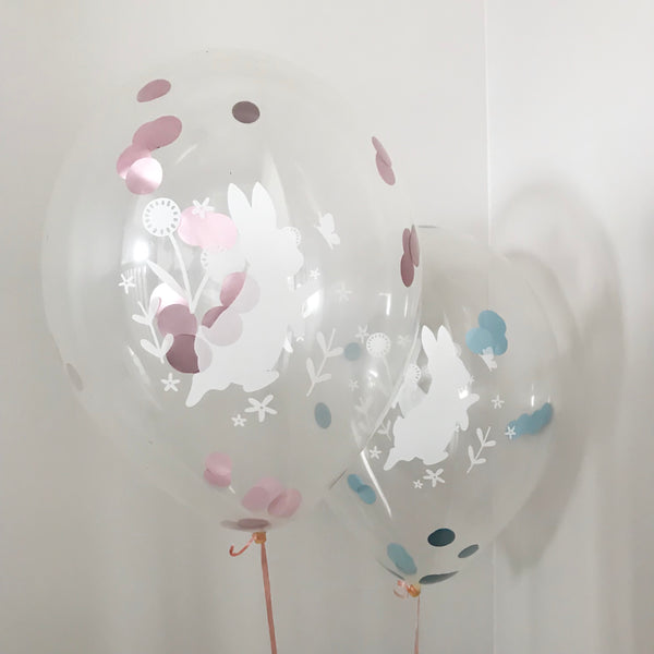 Set of peter rabbit confetti balloons