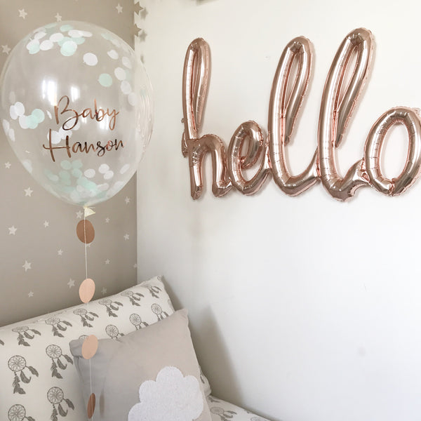 Personalised Confetti Balloons 16inch with garland