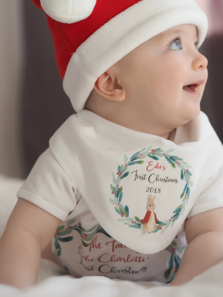 Peter rabbit first Christmas vest or sleepsuit