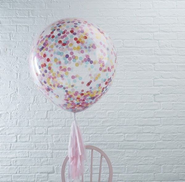 Giant 36inch confetti balloons pack of 3