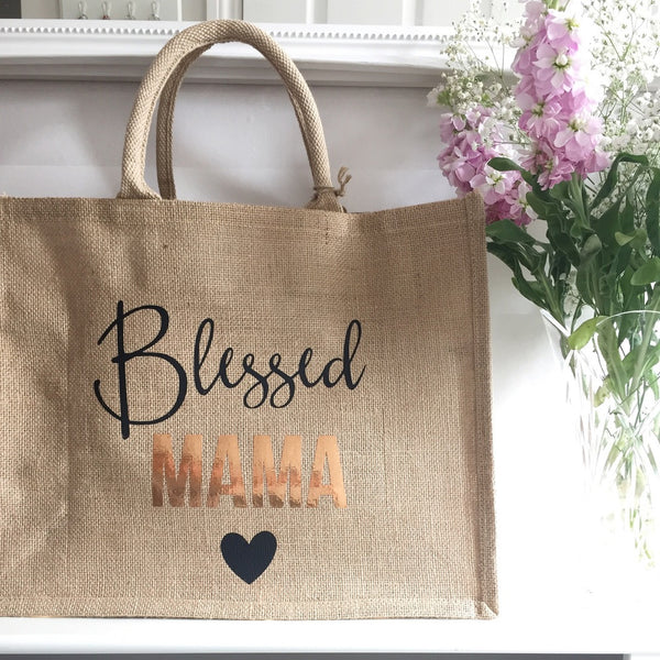 Personalised jute shopping bag