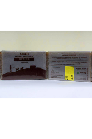 Aarohi Handcrafted Soap (70g) - Orange-Natural handcrafted soaps-Samaun- The Himalayan Treasure