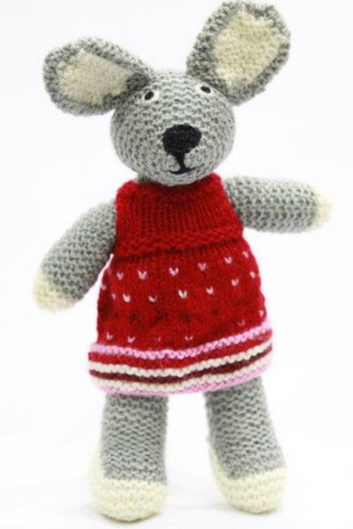 Handcrafted-Kumaon-Bunny-doll-in-frock-Handcrafted Soft Toys-Samaun- The Himalayan Treasure