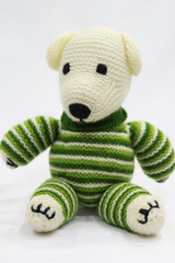 Handcrafted cuddly Bear from Kumaon Uttarakhand-Handcrafted Soft Toys-Samaun- The Himalayan Treasure