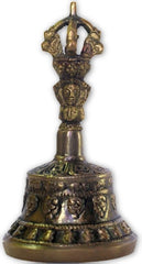 Handmade bronze Om prayer bell-small-Tibetan Craft-Samaun- The Himalayan Treasure