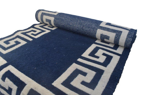 Handmade Traditional Carpet Blue-Himalayan Rugs and Carpets-Samaun- The Himalayan Treasure