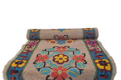 Handmade Traditional Carpet Light Peach Base-Himalayan Rugs and Carpets-Samaun- The Himalayan Treasure