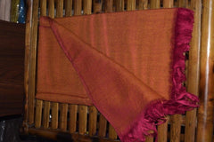 Shawl Marino wool- Double shade (Dark Pink)-Himalayan Shawls & Stoles-Samaun- The Himalayan Treasure