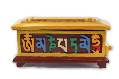 Hand carved Tibetan wooden incense Burner-Tibetan Craft-Samaun- The Himalayan Treasure