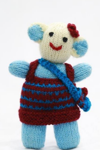 Handcrafted doll with bag from Kumaon (1 piece)-Handcrafted Soft Toys-Samaun- The Himalayan Treasure