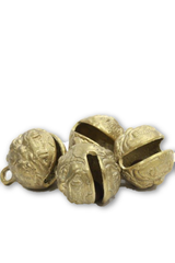 Handcrafted Himalayan Brass horse bells (set of 4 Pieces)-Tibetan Craft-Samaun- The Himalayan Treasure