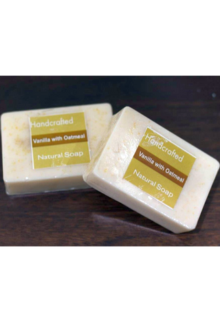 Handcrafted Soap (100g) - Vanilla with Oatmeal-Natural handcrafted soaps-Samaun- The Himalayan Treasure