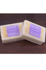 Handcrafted Soap (100g) - Lavender with Wheat germ-Natural handcrafted soaps-Samaun- The Himalayan Treasure
