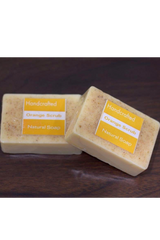 Natural Handcrafted Soap (100g) - Orange Scrub-Natural handcrafted soaps-Samaun- The Himalayan Treasure