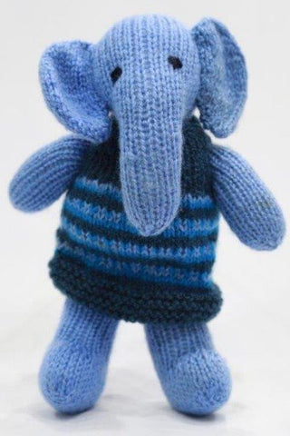 Handknitted Elephant Frock Doll from Uttarakhand-Handcrafted Soft Toys-Samaun- The Himalayan Treasure