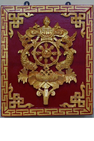 Tibetan Holy Frame (square)-Tibetan Craft-Samaun- The Himalayan Treasure
