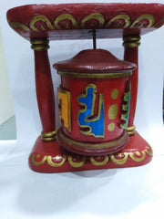 Tibetan handmade wooden prayer wheel-Tibetan Craft-Samaun- The Himalayan Treasure