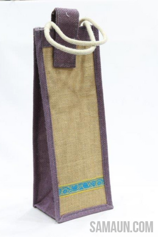 Wine or water bottle bag in Jute-Jute,Bamboo & Ringal-Samaun- The Himalayan Treasure