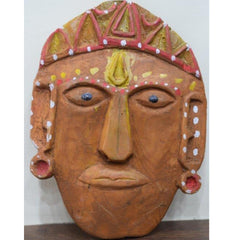 Ramman wooden mask - Lord Laxman-Ramman wooden masks-Samaun- The Himalayan Treasure