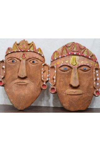 Ramman wooden mask - Lord Ram-Laxman-Ramman wooden masks-Samaun- The Himalayan Treasure