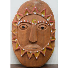 Uttarakhand Ramman Wooden mask - God Surya-Ramman wooden masks-Samaun- The Himalayan Treasure
